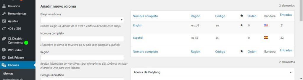 plugin de idiomas para wordpress