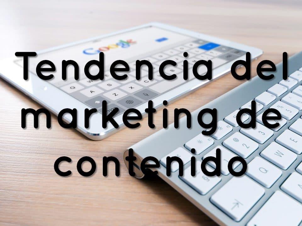 tendencia de marketing de contenido